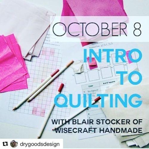 Beginning quilt class