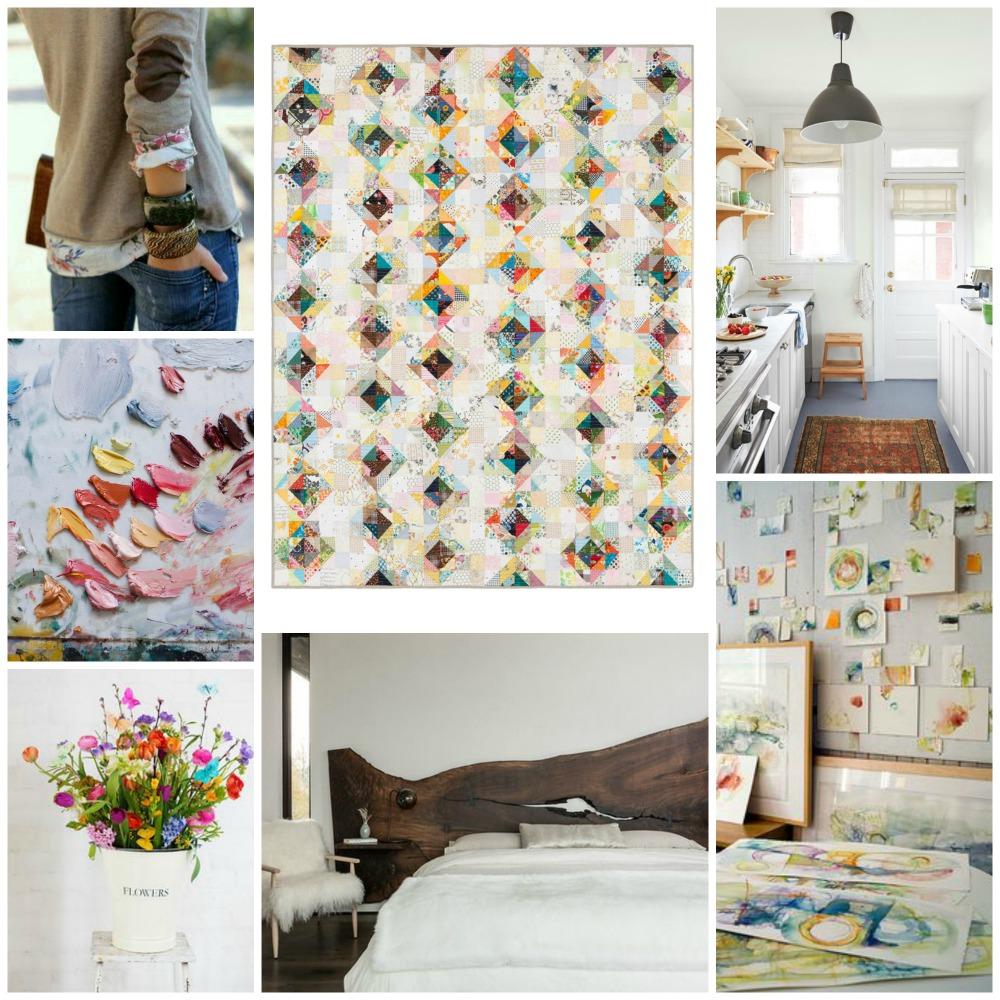 Value quilt collage