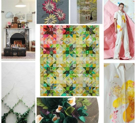 Starflake quilt collage