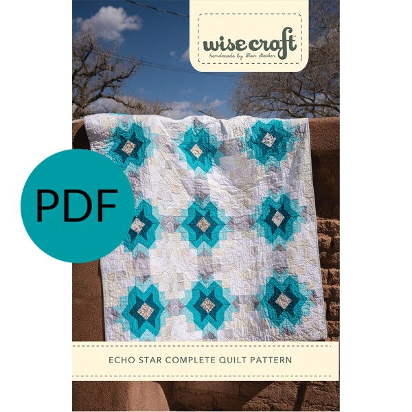 Echo Star Modern Quilt Pattern PDF