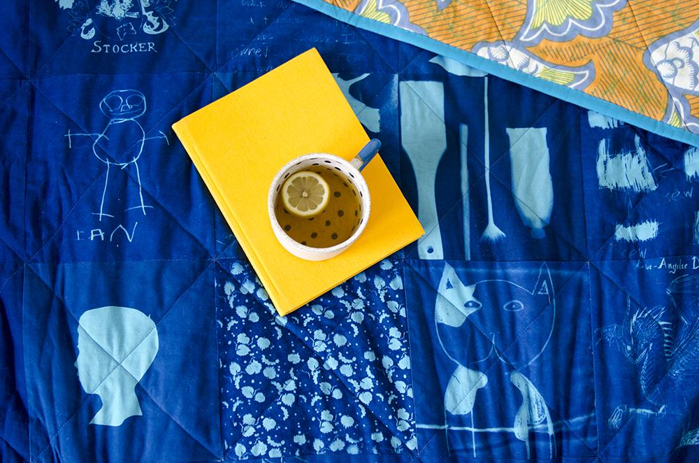Cyanotype quilt