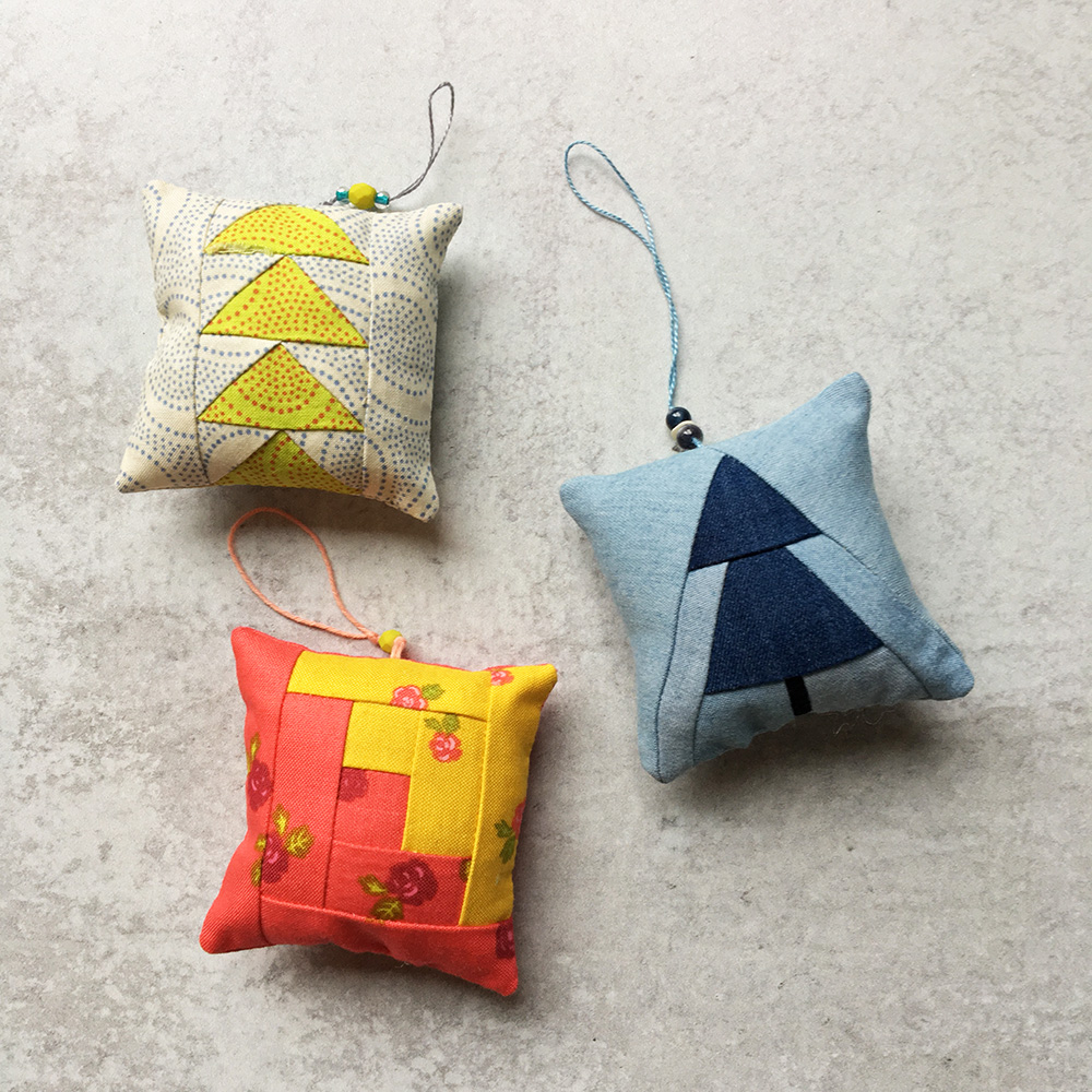 Sew Tiny Sampler Tree Ornaments