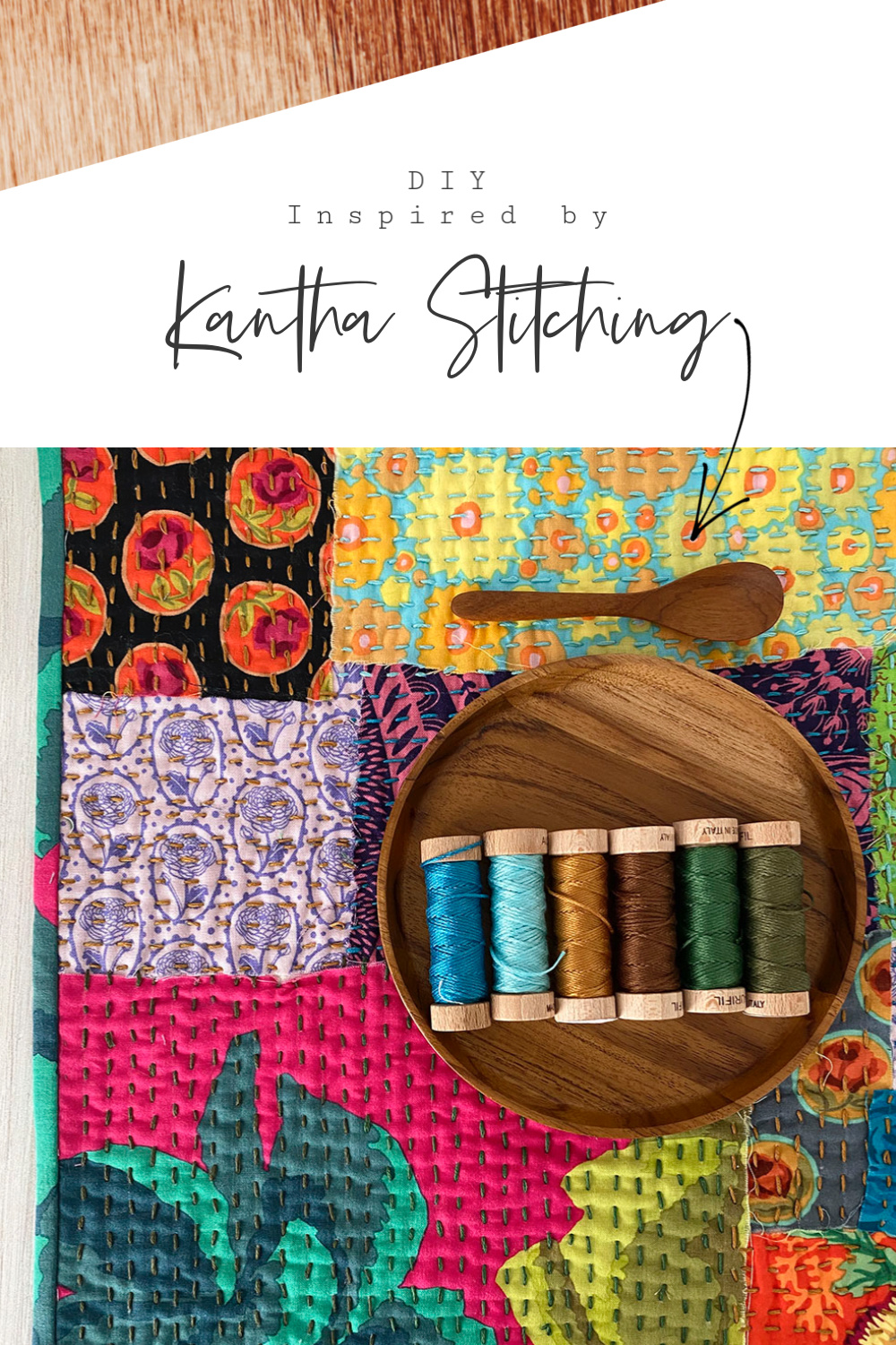 DIY Katha Stitching