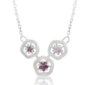 Hope triple pendant - all the pinks