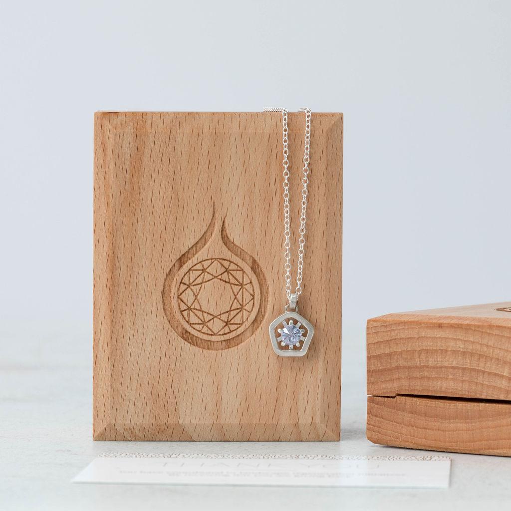 Hope simple pendant - lilac hanging box