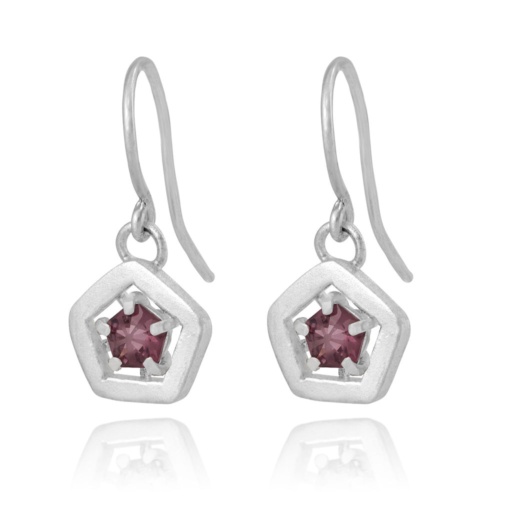 Hope drop earrings - pink