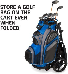 The bag boy express dlx push cart storage