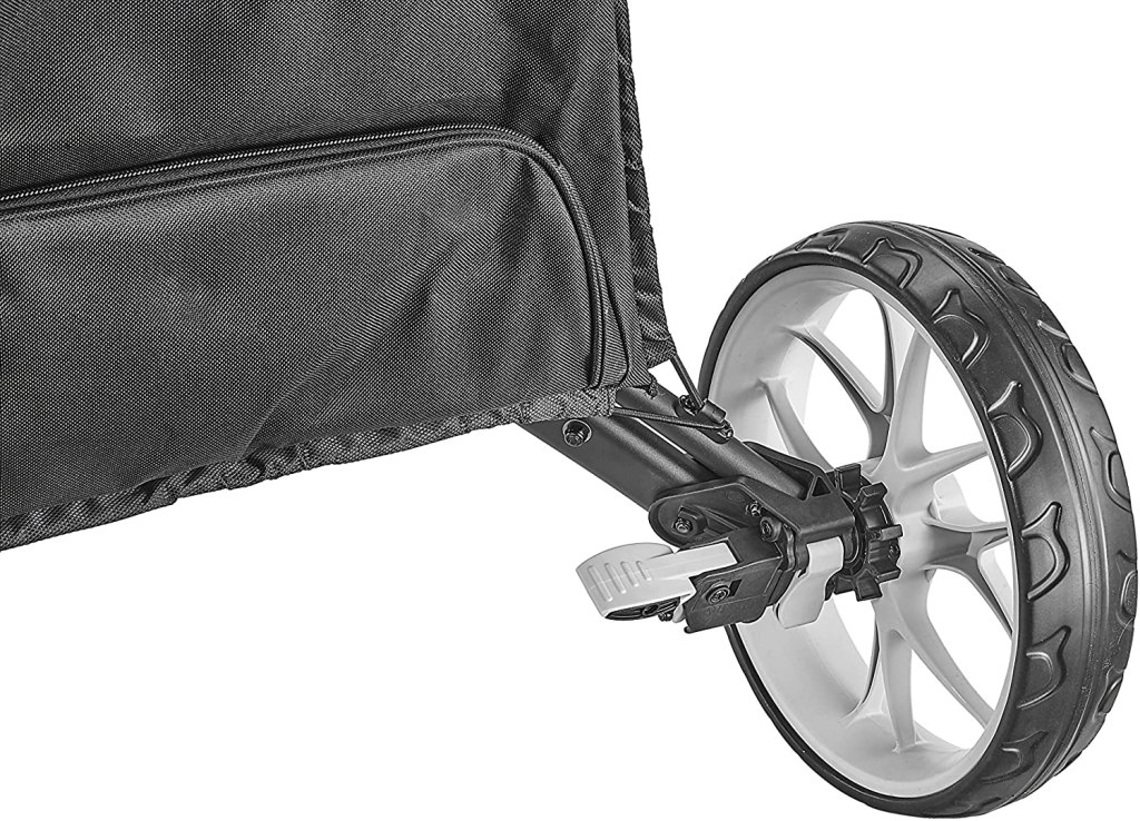 CaddyTek EZ-Fold 3-Wheel Golf push cart foot brake