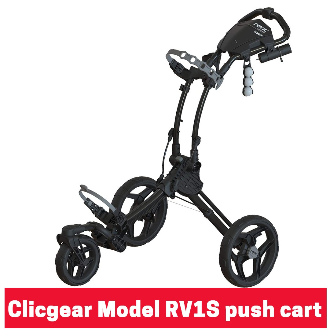 Clicgear Rovic Model RV1S 3 wheel golf push cart