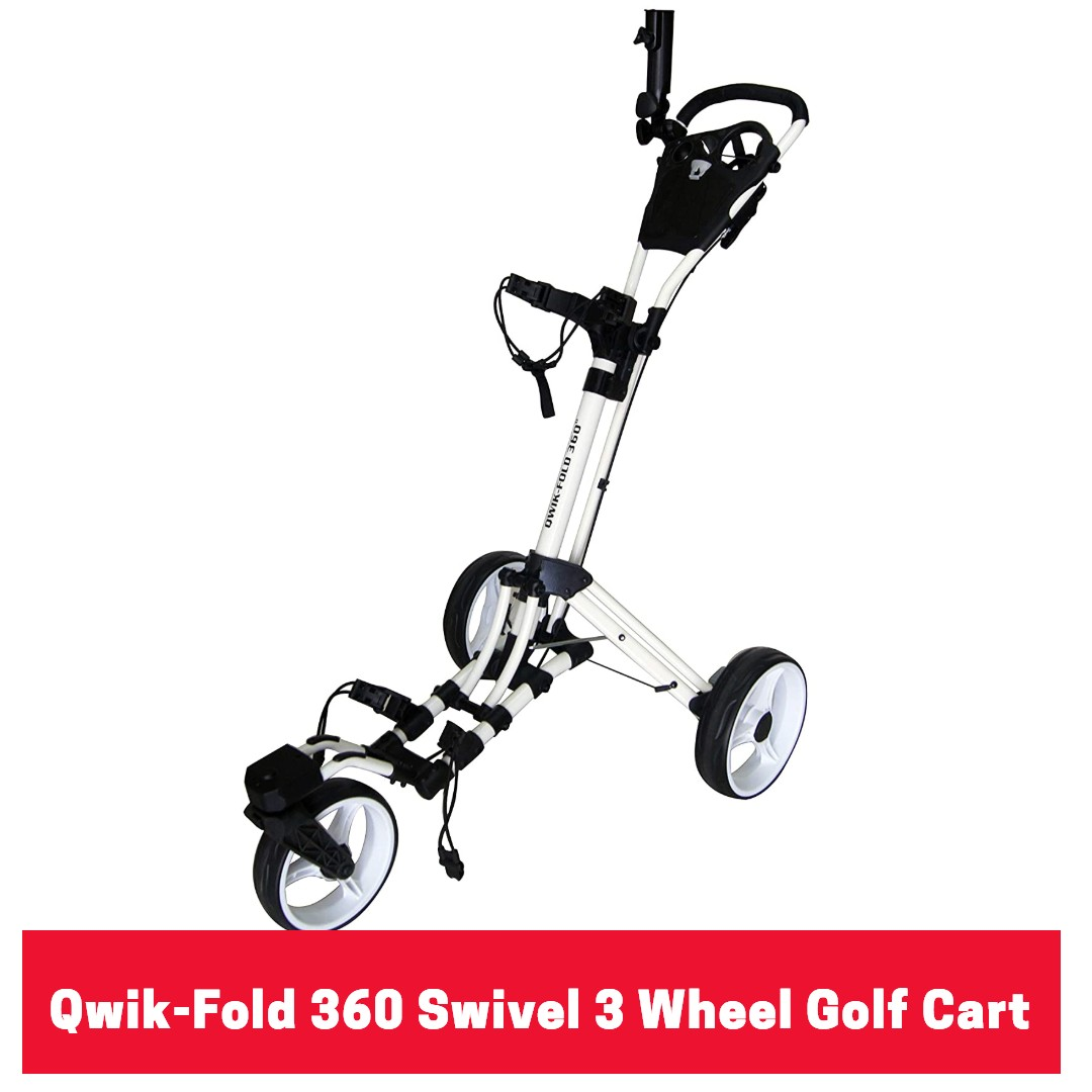 Qwik-Fold 360 Swivel 3 Wheel Golf Cart