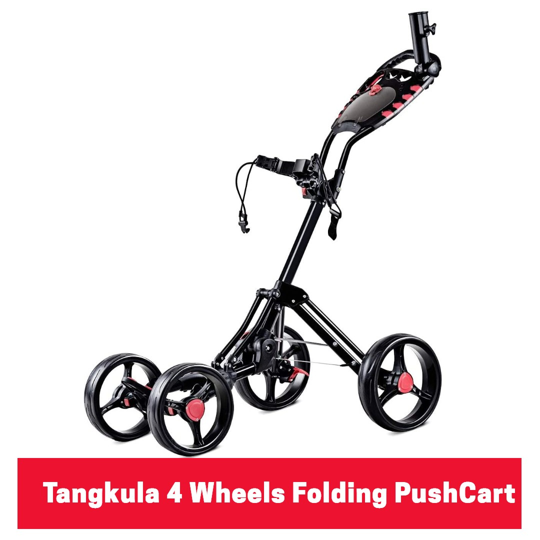 Tangkula 4 Wheels Folding Push-Pull Golf Cart