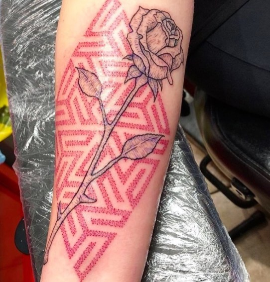 Geometric Rose piece