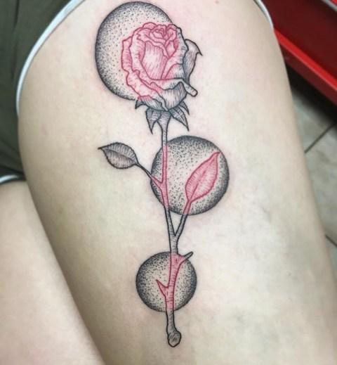 Graphic Rose piece