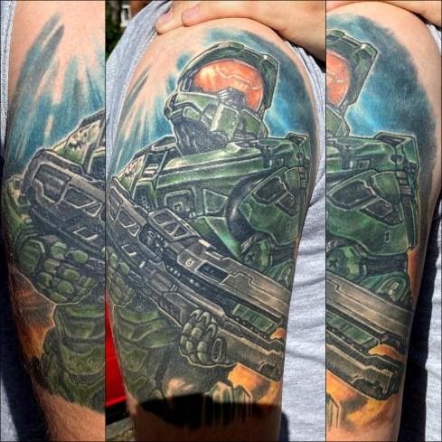 Xbox halo tattoo