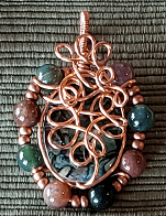 Abalone Shell and Beads Pendant