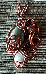 Magnesite and Beads Pendant