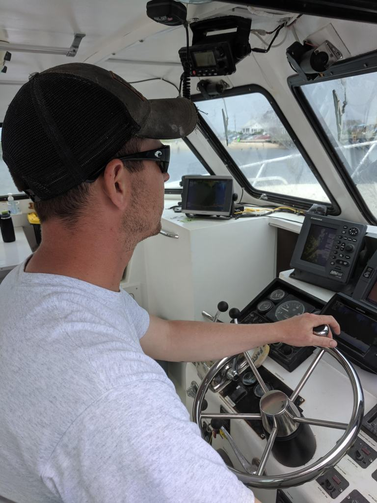 Capt. Matt at the Helm