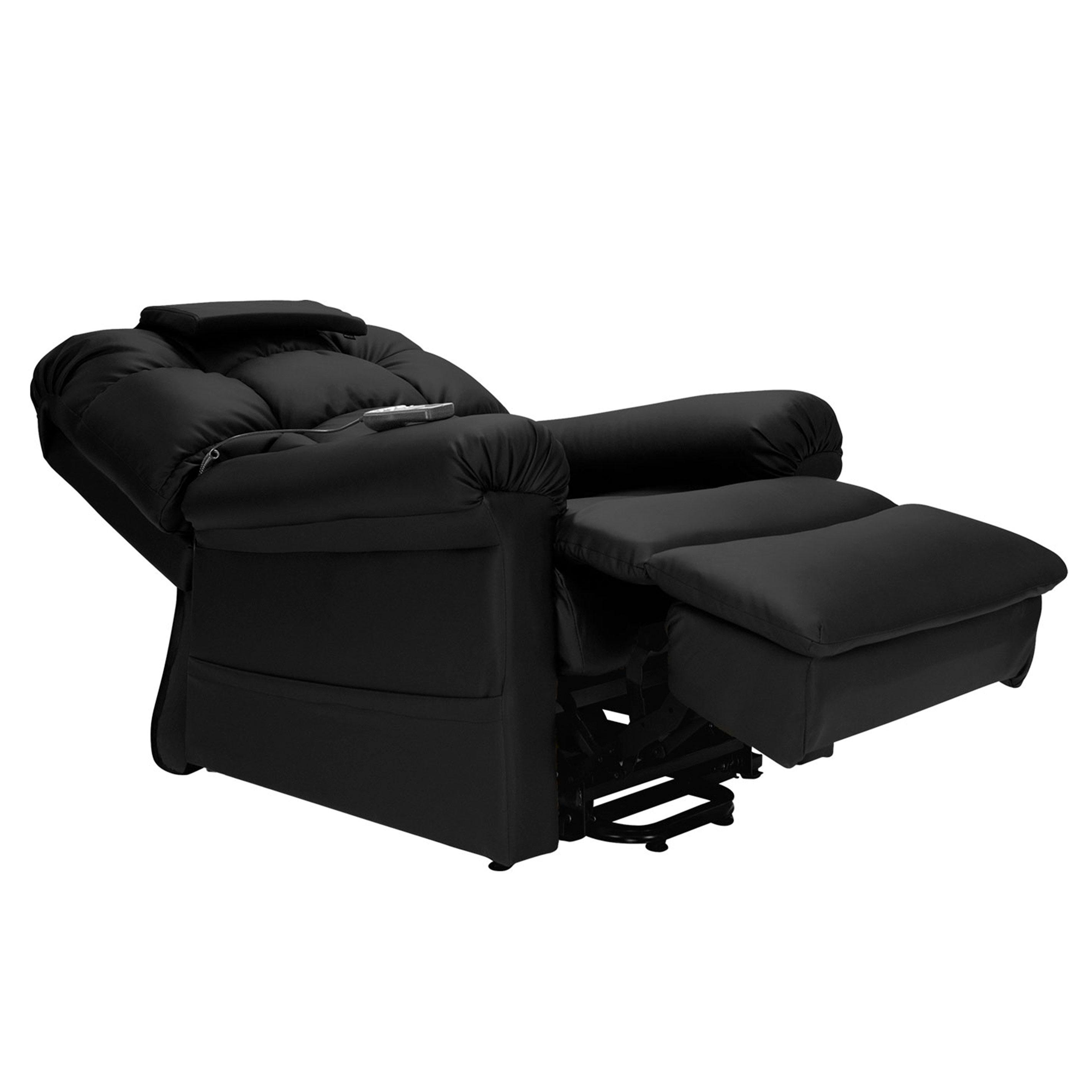 Superb Wiselift 450 Sleeper Lift Chair Recliner Midnight Enduralux Leather Machost Co Dining Chair Design Ideas Machostcouk
