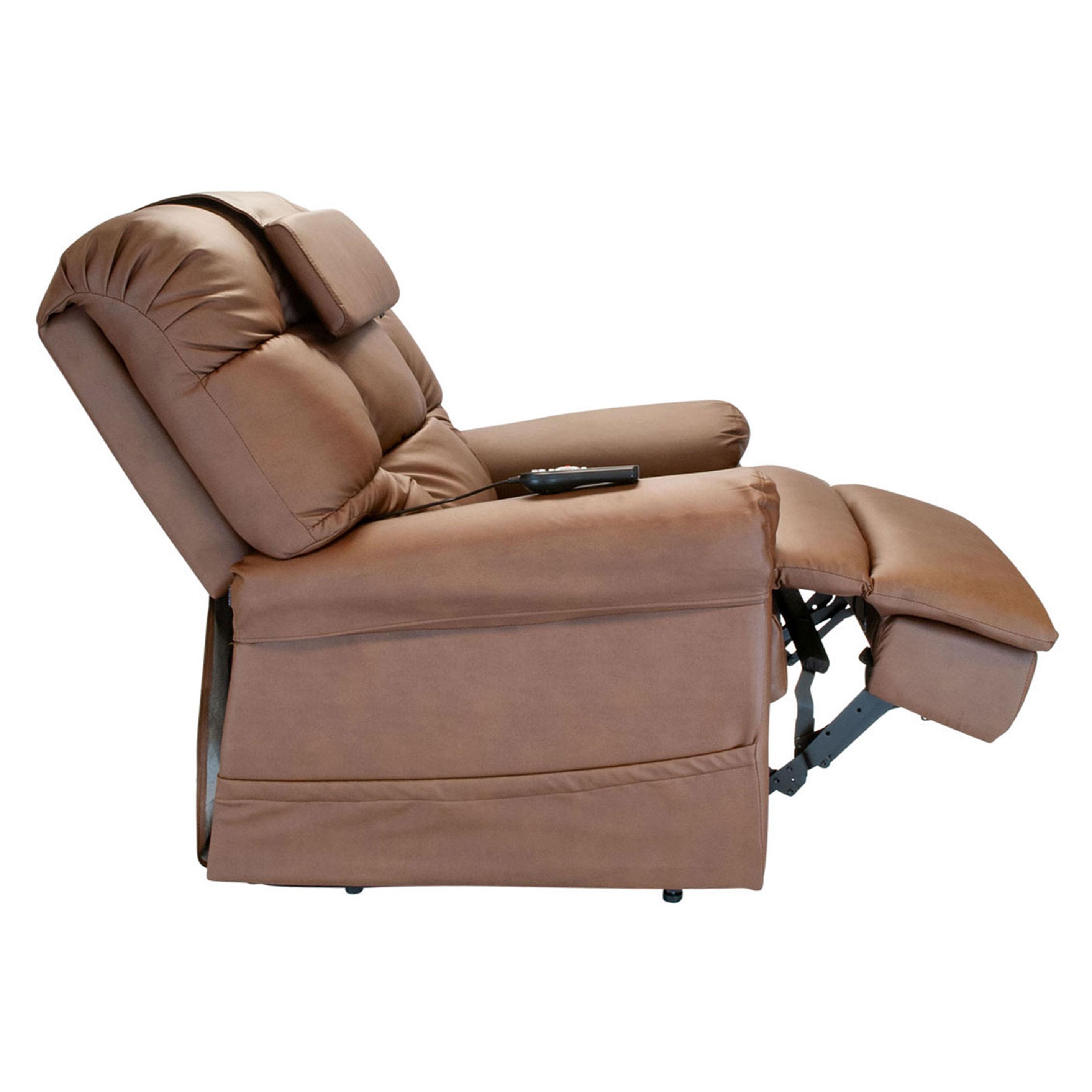 Miraculous Wiselift 450 Sleeper Lift Chair Recliner Mocha Enduralux Leather Machost Co Dining Chair Design Ideas Machostcouk