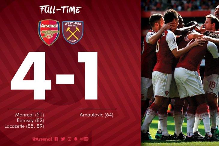 VIDEO: Arsenal vs West Ham 4-1 – Highlights & Goals