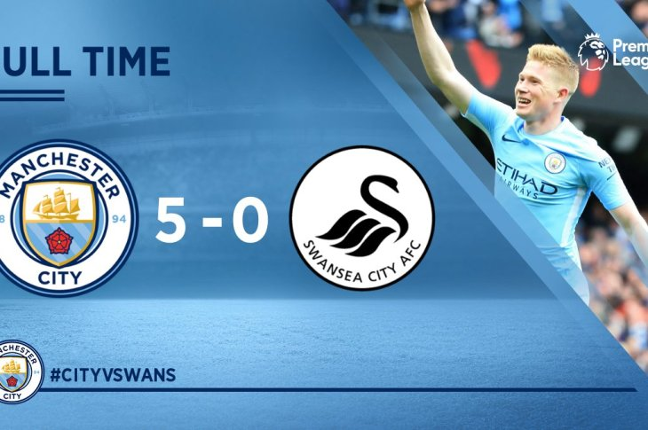 VIDEO: Manchester City vs Swansea 5-0 – Highlights & Goals