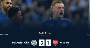 VIDEO: Leicester City vs Arsenal 3-1 – Highlights & Goals