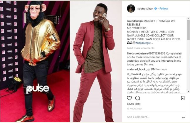 Nigerian Celebrity Who Disguised Himself In Monkey Costume To Headies Revealed (Photos)