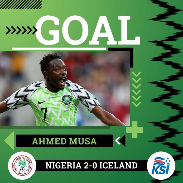 VIDEO: Nigeria 2 vs 0 Iceland (2018 World Cup) - Highlights & Goals