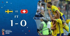 VIDEO: Sweden 1 vs 0 Switzerland (2018 World Cup) – Highlights & Goals