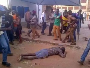 PHOTOS: SO BAD! 12 People Killed As Armed Robbers Raid Two Banks In Edo State
