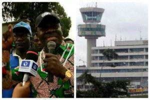 Serious Fight Breaks Out At Lagos Airport As NLC Attempts To Shut It Down