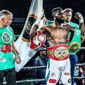 PHOTOS: Reekado Banks Hosts Boxer Larry Ekundayo In His Residence