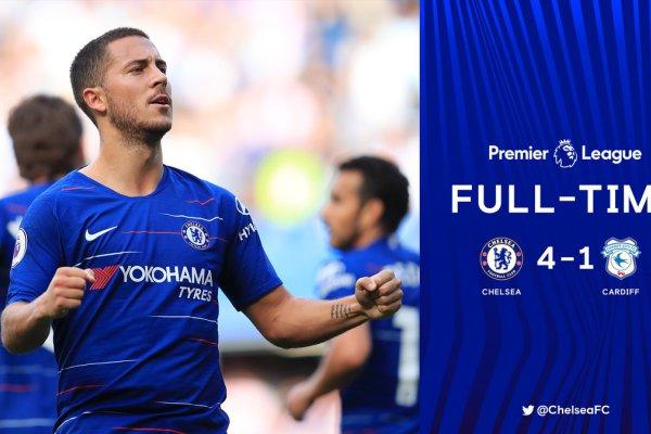Chelsea 4 vs 1 Cardiff City (Premier League) - Highlights & Goals
