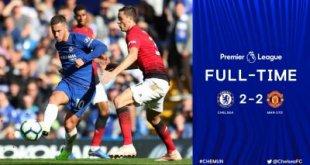 Chelsea 2 vs 2 Manchester United )Premier League) Highlights & Goals