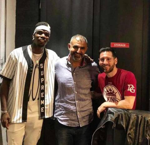 What Paul Pogba Discussed With Messi On Friday Night In Dubai (Pictures)