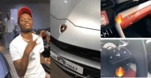 Video: Wizkid Is On Fire! Buys Brand New Lamborghini Urus Worth N101Million
