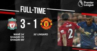 Video: Liverpool 3 vs 1 Manchester United (Premier League) Highlights & Goals