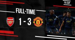 Arsenal vs Manchester United 1-3 - Highlights & Goals