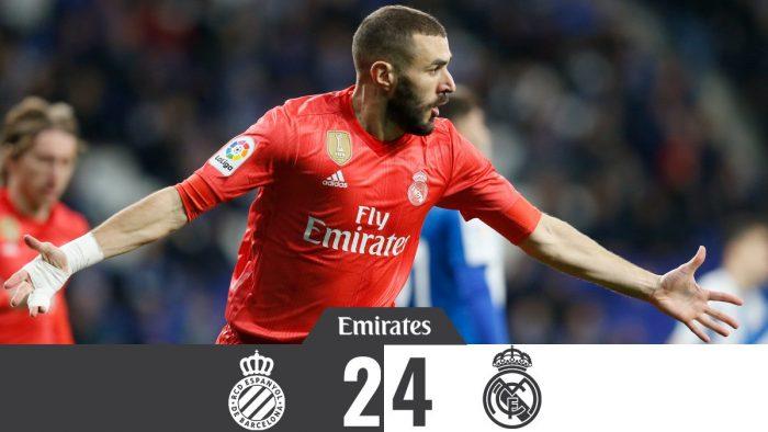 Espanyol vs Real Madrid 2-4 - Highlights & Goals