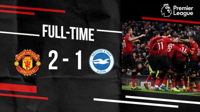 Manchester United vs Brighton 2-1 – Highlights & Goals (Download Video)