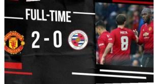 Manchester United vs Reading 2-0 – Highlights & Goals