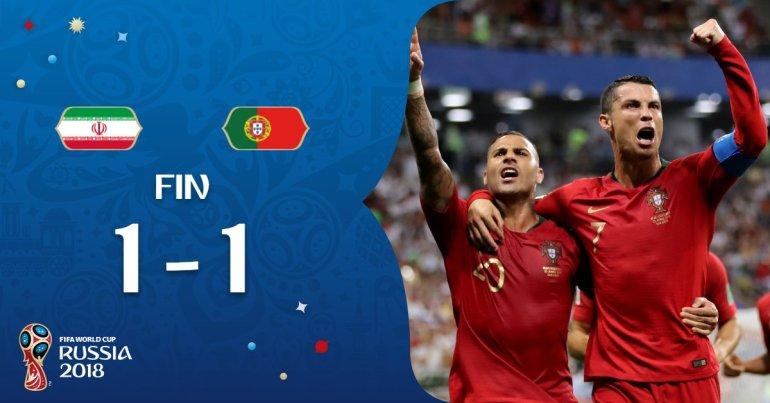 Iran vs Portugal 1-1 Highlight Download