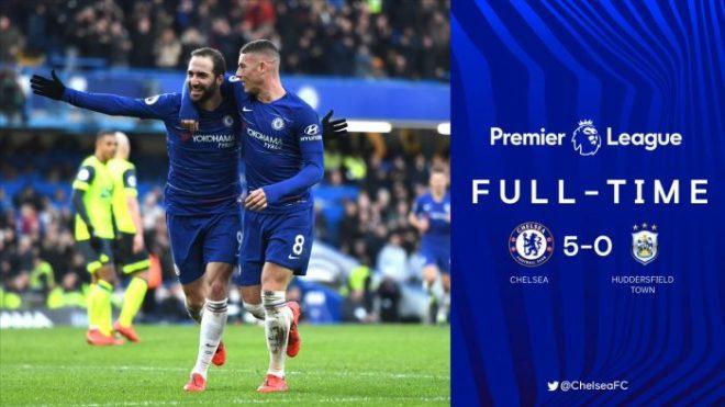 Chelsea vs Huddersfield 5-0 - Highlights & Goals