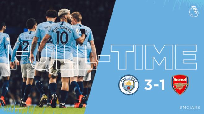 Manchester City vs Arsenal 3-1 - Highlights & Goals