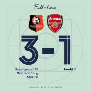 Rennes vs Arsenal 3-1 - Highlights & Goals