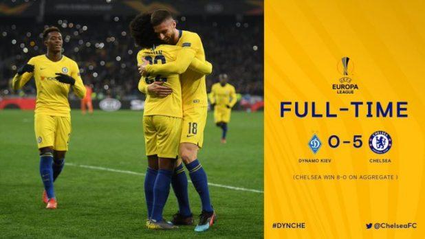 Dynamo Kiev vs Chelsea 0-5 (AGG 0-8) - Highlights & Goals