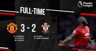 Manchester United vs Southampton 3-2 - Highlights & Goals