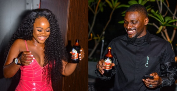 BBNaija stars, Cee c And Tobi Spotted At A Dinner Party (Photos)