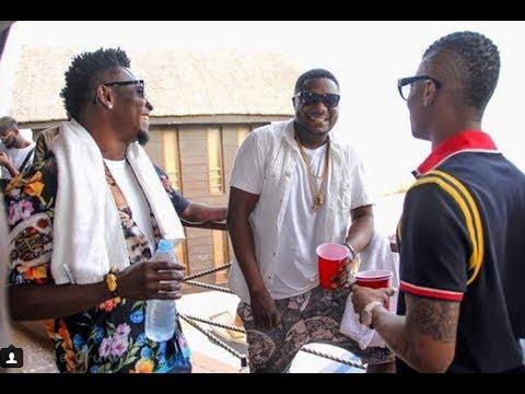 Obafemi Martins, Wizkid & CDQ Party Hard In Lagos Night Club (Video)