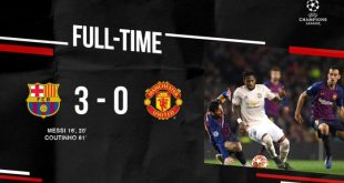 Barcelona vs Manchester United 3-0 (Agg 4-0) - Highlights